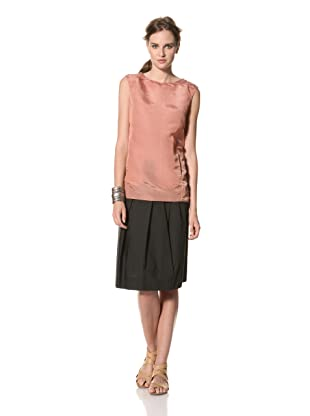 MARNI Women's Solid Sleeveless Round Neck Top (apricot)
