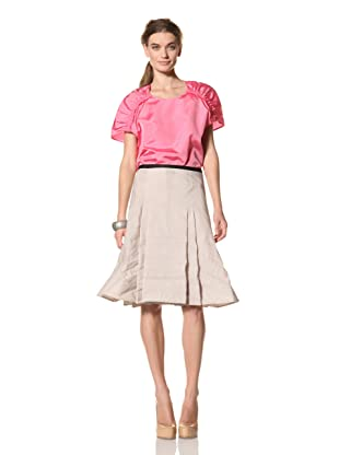 MARNI Women's Solid Pleated Skirt (Sand)