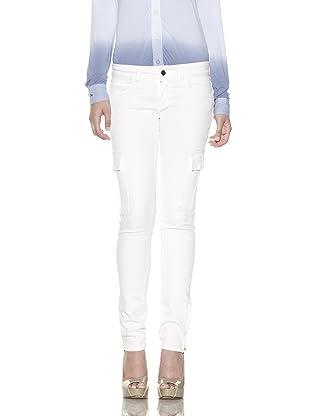 Rockstar Denim Women's Twill Cargo Pants (White)