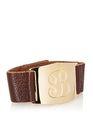 Lisa Stewart Gold B Initial Cuff Bracelet