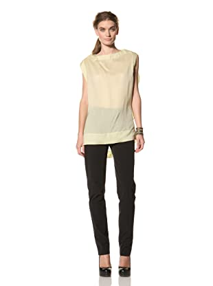 MARNI Women's Top with Back Volume (Light Lime Green)