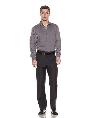 Luciano Barbera Men's Wool & Linen Dress Pants (Navy)