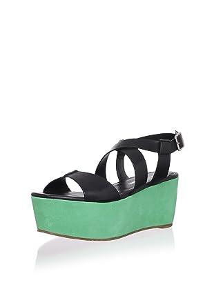 Pour La Victoire Women's Noele Platform Sandal (Black/Kelly)