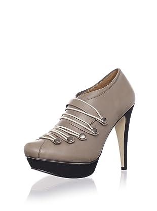 Messeca Women's Neyrah Platform Military Bootie (Mushroom Leather)