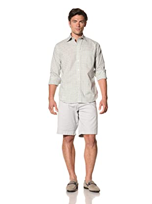 Haspel Men's Check Plaid Shirt (Green Check)