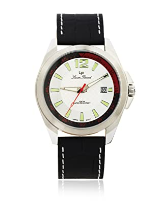 Lucien Piccard Men's 28174SL Brunswick Silver Dial Black Leather Watch