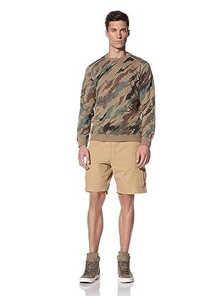 Maharishi Men's Classic Lock Crew Sweatshirt (Woodland)