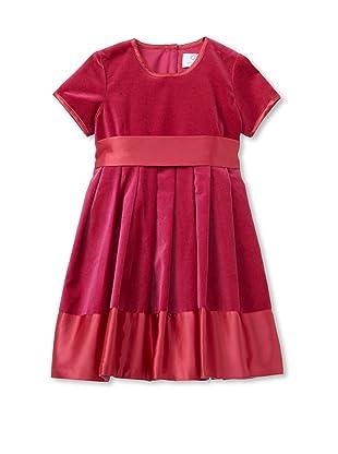 Baby CZ Girl's Grace Velvet Dress (Berry)