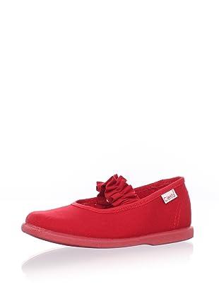 Cienta Kids Ruffle Mary Jane (Red)