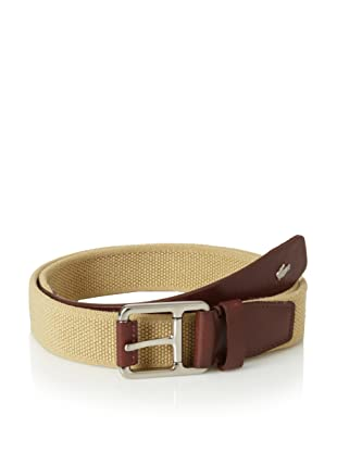 Lacoste Men's Stretch Belt (Brown/Khaki)
