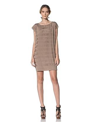 Kenneth Cole Women's Allover Slashes Dress (Oak)
