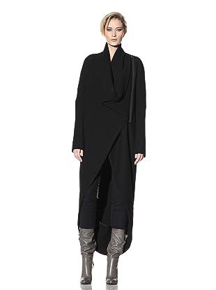 Haider Ackermann Women's Long Asymmetrical Coat (Black)