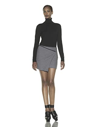Costume National Women's Asymmetrical Mini Skirt (Grey)