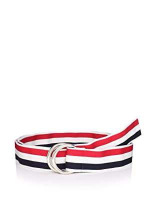 Thom Browne Men's Mogador Ribbon Belt (Red/White/Blue)