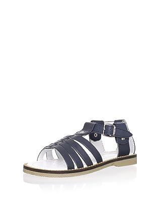 Billowy Kid's T-Strap Sandal (Black)