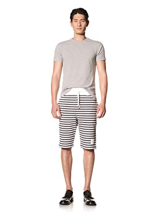 Thom Browne Men's Sailor Stripe Sweat Shorts (Navy/White)