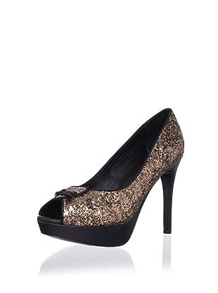 Pour La Victoire Women's Channa Platform Pump (Brown Glitter)