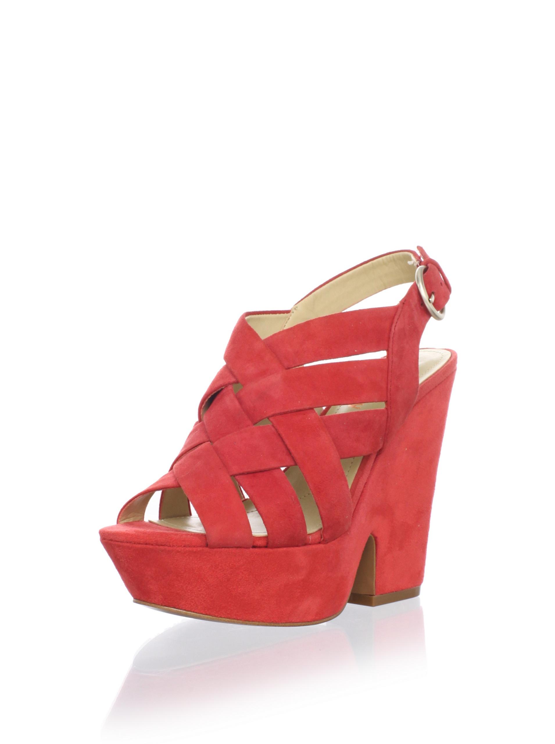 Luxury Rebel Women's Rea Wedge Sandal (Coral)