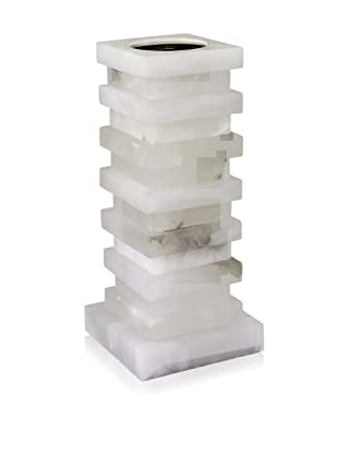 John-Richard Collection Stacked Alabaster Candle Holder