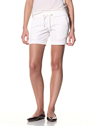 SOLD Denim Women's Slouch Twill Shorts (White)