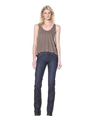 James Jeans Women's Tommy 5 Pocket Mid-Rise Straight Leg Jean (Dilemma)
