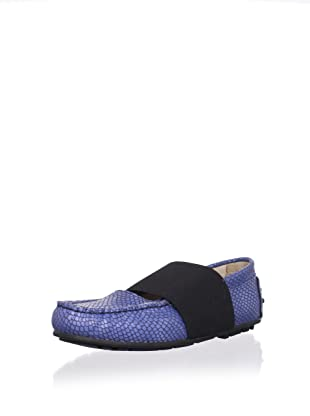W.A.G. Kid's Moccasin with Elastic Band (Blue)