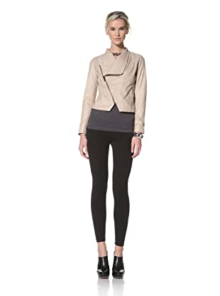 HARE + HART Women's Schiller Leather Jacket (Camel Beige)