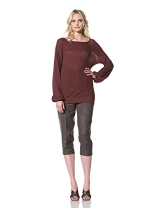 Billy Reid Women's Wide Neck Raglan Top (Wine)