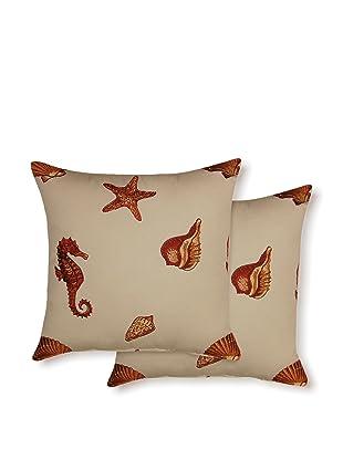 Dakota Set of 2 Kemps Bay Pillows (Coral)