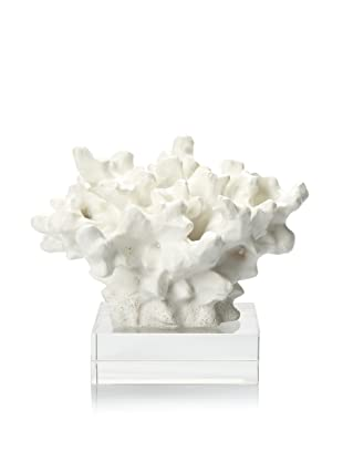 Barclay Butera Seaside Porties Coral Sculpture (White/Clear)