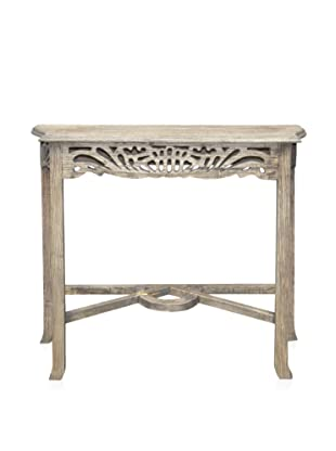 A&B Home Whitewashed Mahogany Table