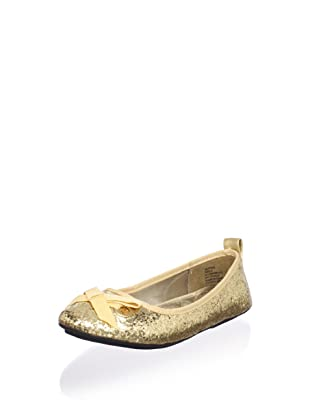 Melton Kid's Glitter Ballet Flat (Little Kid) (Gold)