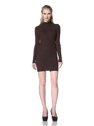L.A.M.B. Women's Hooded Sweater Dress (Chocolate)