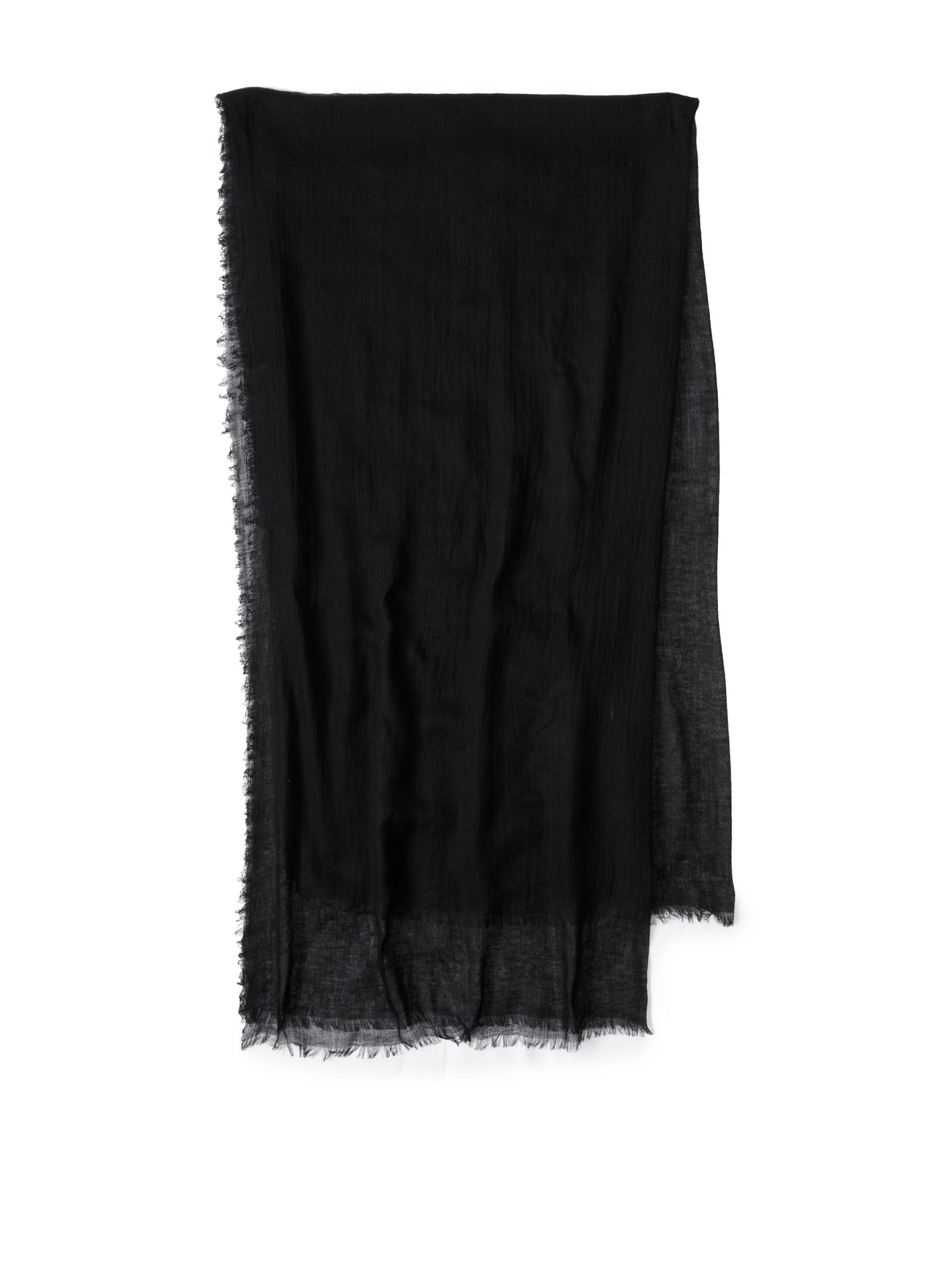 Carolina Amato Women's Cotton Gauze Wrap (Black)