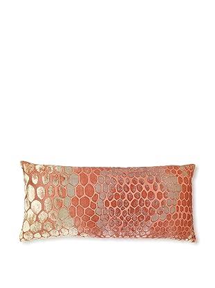 Kevin O'Brien Studio Snakeskin Velvet Pillow, Papaya/Mango, 8