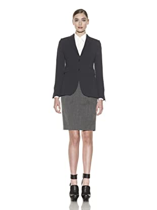 Costume National Women's Wool Blend Skirt Suit (Grey)