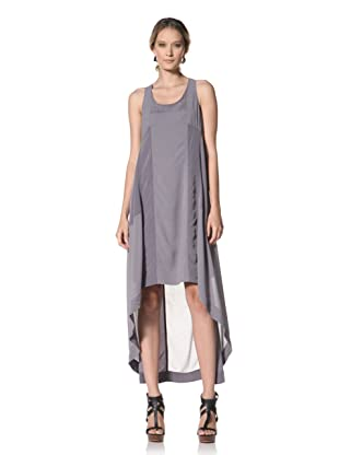 Kenneth Cole Women's High-Low Maxi Dress with Seaming Detail (Graphite)
