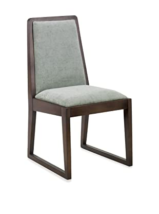 Armen Living Set of 2 Oblique Side Chairs, Blue