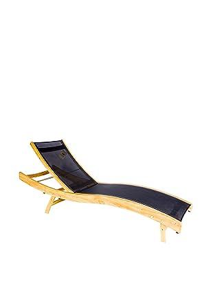 Les Jardins Duna Teak Chaise Chair (Black)