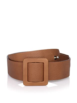 MARNI Women's Leather Belt with Square Buckle (Dark Brown)