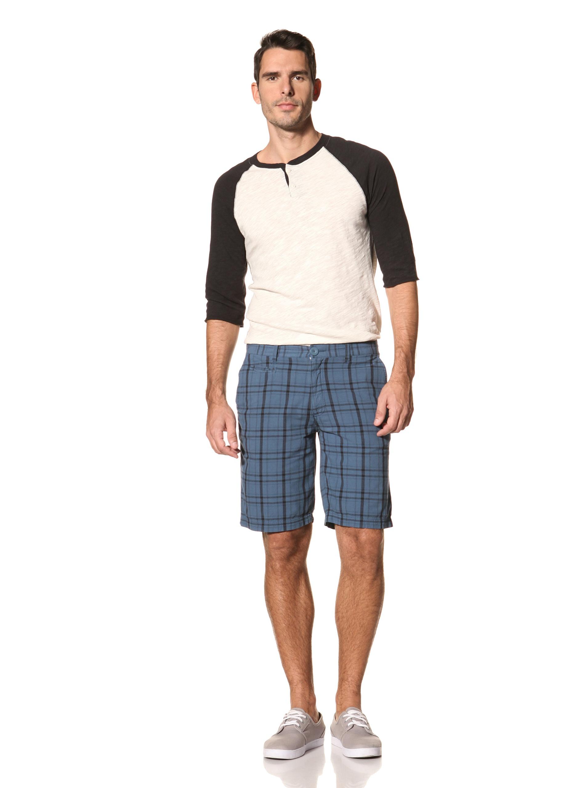 nüco Men's Plaid Shorts (Dark Teal)