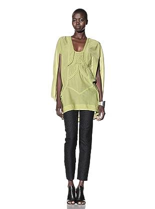 L.A.M.B. Women's Braided Embellished Tunic (Apple Green)