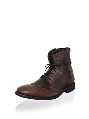 John Varvatos Men's Wingtip Ankle Boot (Dark Brown)