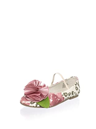 Joyfolie Kid's Leopard Rose Flat (Pink/Brown/Cream)
