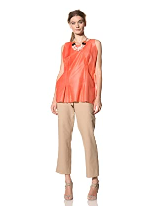 MARNI Women's Abstract Print Seamed Tank Top (Orange)