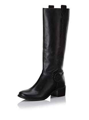 Jack Rogers Women's Stable Boot (Black Leather)