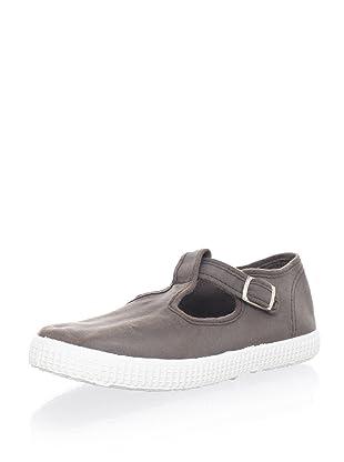Cienta Kid's T-Strap Sneaker (Light Brown)