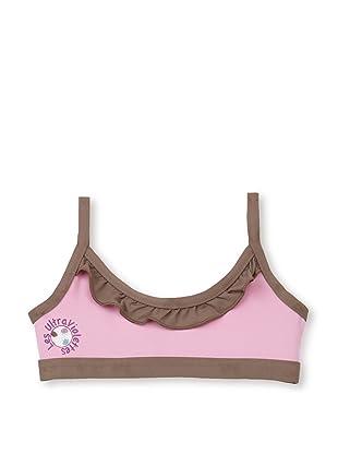 Les UltraViolettes Girl's Melusine Brassiere Swim Top (Rose)
