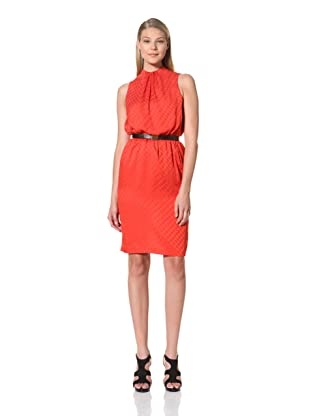 MARTIN GRANT Women's Gathered Neck Dress (Tangerine)