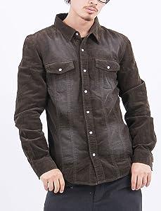 6color ブラスト加工コーデュロイシャツ